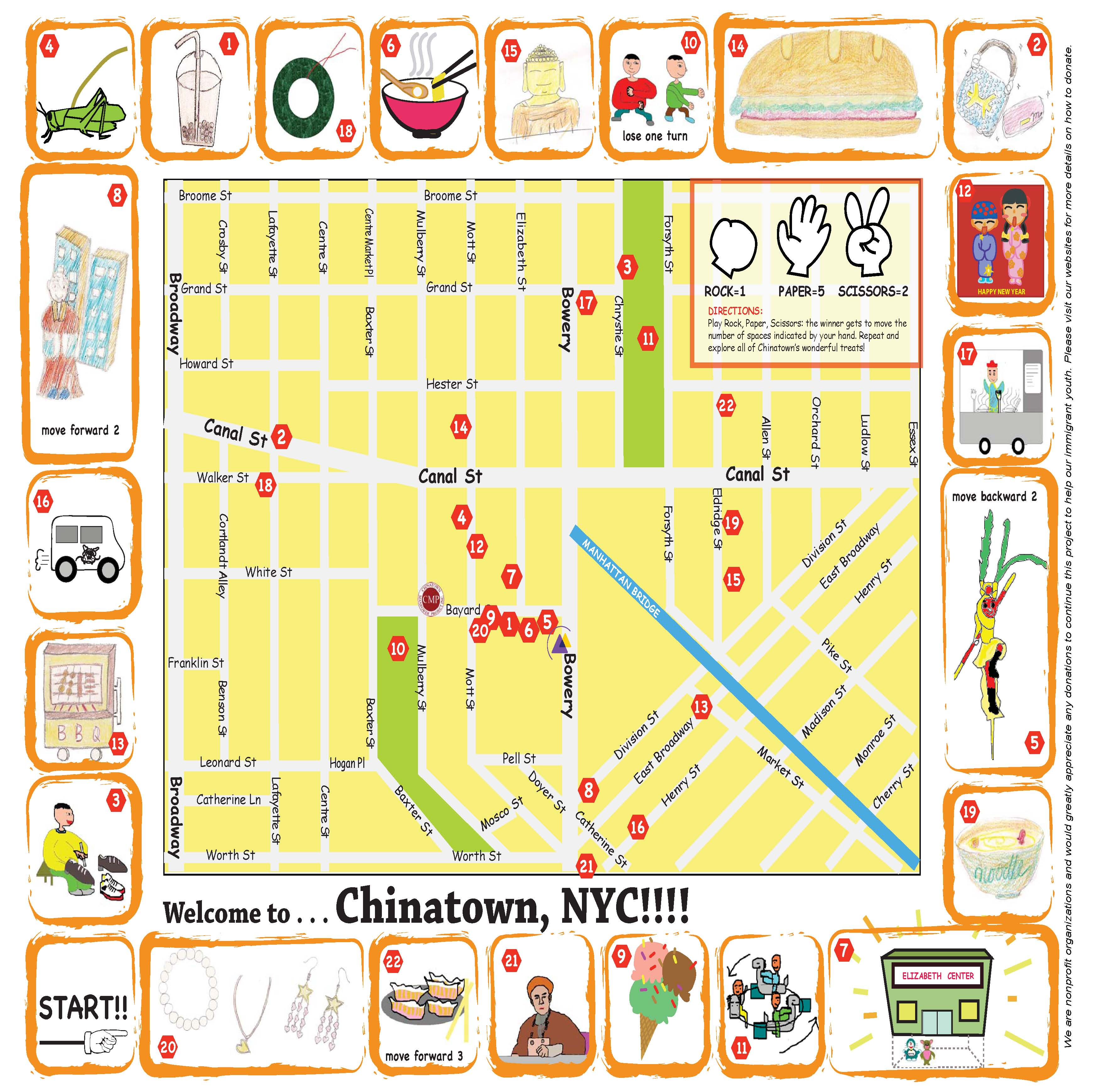 Chinatown New York City Tourist Map City Hall Nyc Mappery